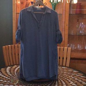 Bella Dahl super soft denim shirt dress EUC
